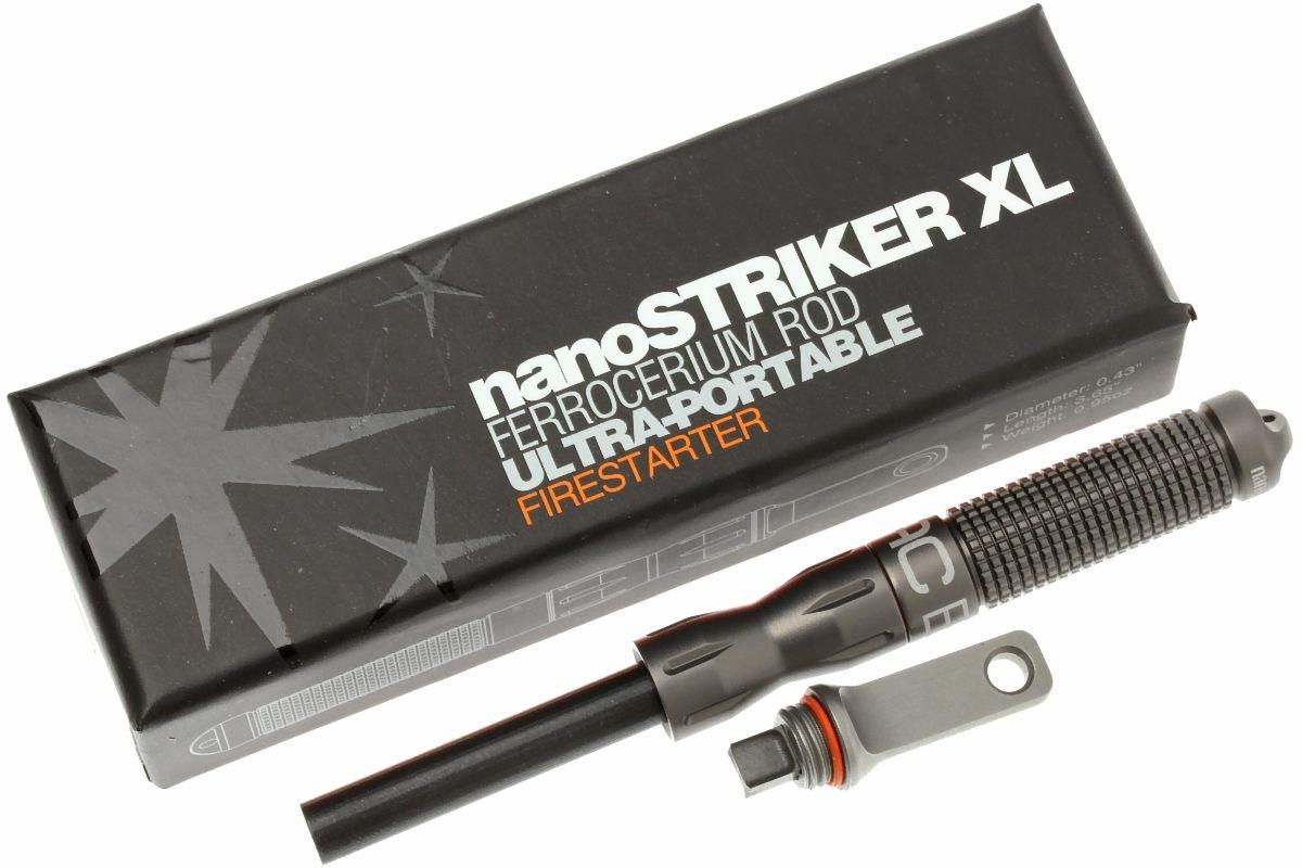 Exotac Polystriker Ultra-light ferrocérium Rod Firestarter-Gray