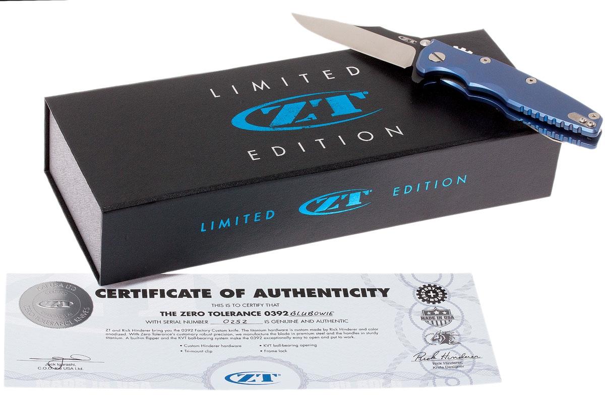 Zero Tolerance 0392BLUBOWIE Limited Edition
