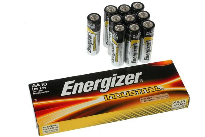 officiële afbeeldingen glad eerste blik 10 pieces Energizer Industrial AA batteries