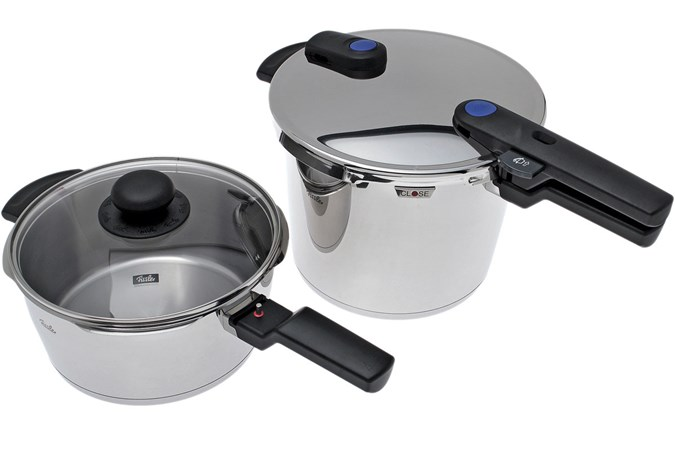 fissler vitaquick schnellkochtopf 6 0 l schnellbratpfanne 3 5 l mit deckel g nstiger shoppen. Black Bedroom Furniture Sets. Home Design Ideas