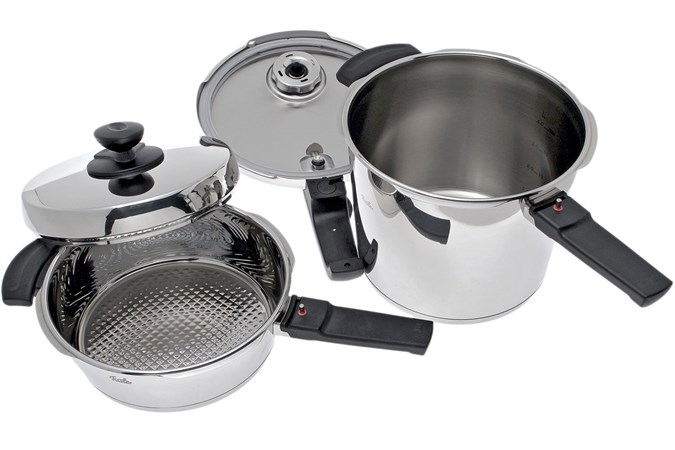 fissler vitavit premium set schnellkochtopf 6 l mit schnellbratpfanne 2 5 l g nstiger shoppen. Black Bedroom Furniture Sets. Home Design Ideas