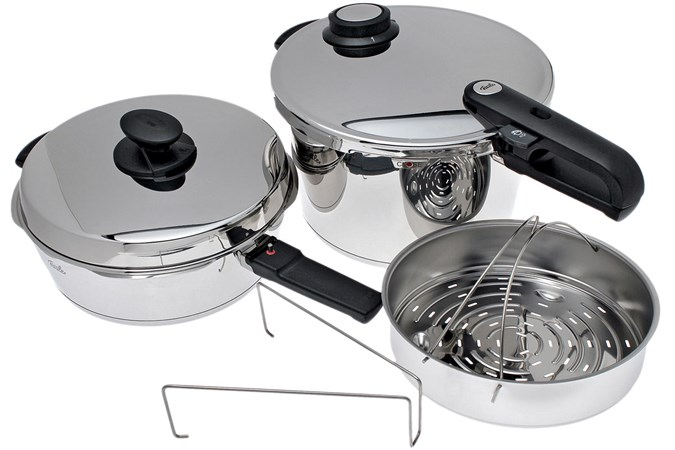 fissler vitavit premium set schnellkochtopf 8 l mit schnellbratpfanne 4 l g nstiger shoppen. Black Bedroom Furniture Sets. Home Design Ideas