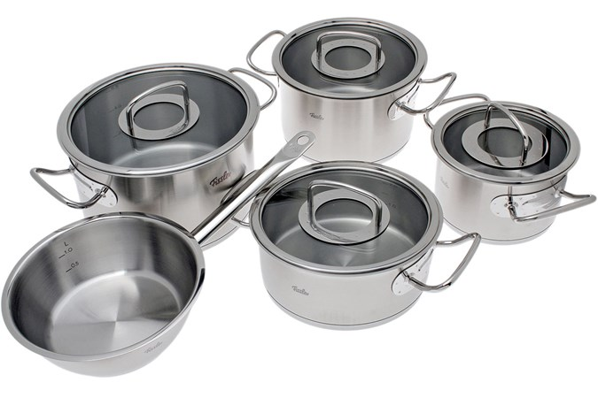 fissler original profi collection pan set 5 pieces glass advantageously shopping at. Black Bedroom Furniture Sets. Home Design Ideas