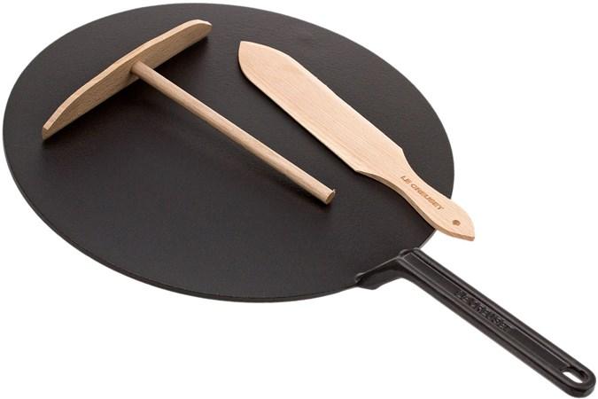 Le Creuset gusseiserne Crêpes Pfanne 32 cm, schwarz | Günstiger ...