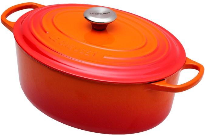 Le Creuset Casserole Cocotte Oval 31cm 6 3 L Orange