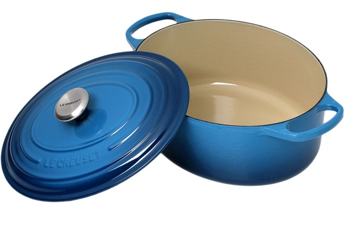 Le Creuset Casserole Cocotte Oval 31cm 6 3 L Blue