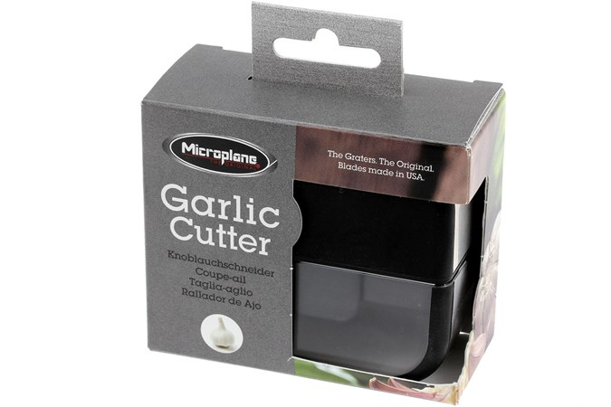 Microplane Garlic Cutter Garlic Grater Black