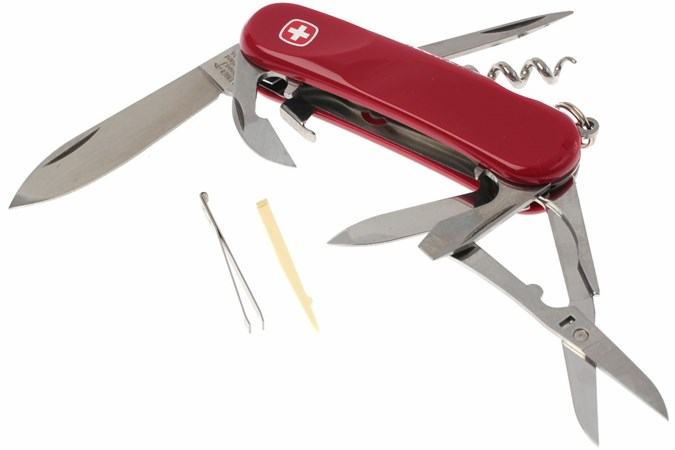 Wenger Evo S 14 Red Swiss Army Knife Advantageously