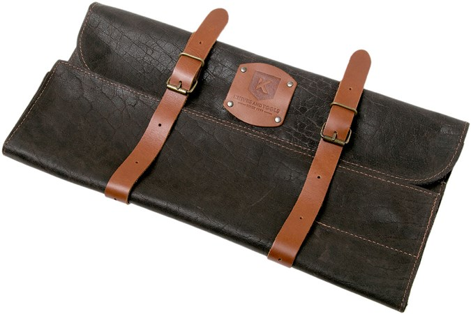 Knivesandtools knife bag leather Utah Choco 45x47