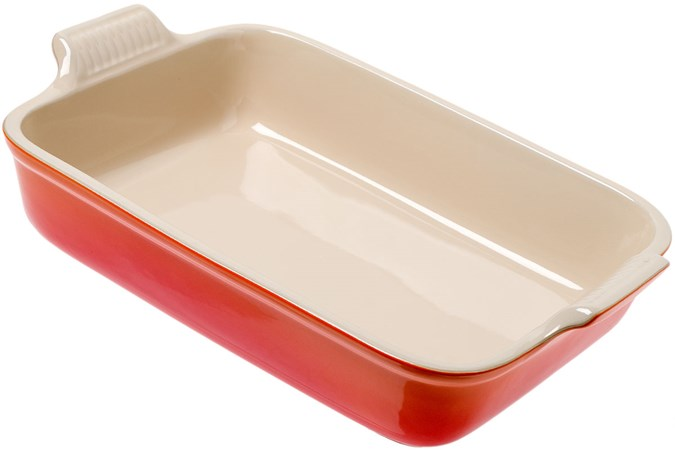 Le Creuset Oven Dish Rectangular 3 85l 32 Cm Orange Red Advantageously Shopping At Knivesandtools Co Uk
