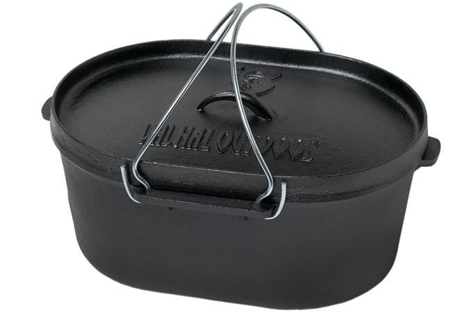valhal outdoor dutch oven oval 9l cast iron pan. Black Bedroom Furniture Sets. Home Design Ideas